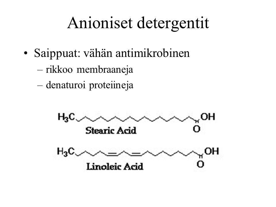 Anioniset detergentit