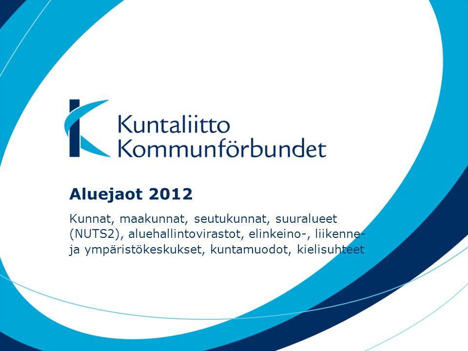 Aluejaot 2012
