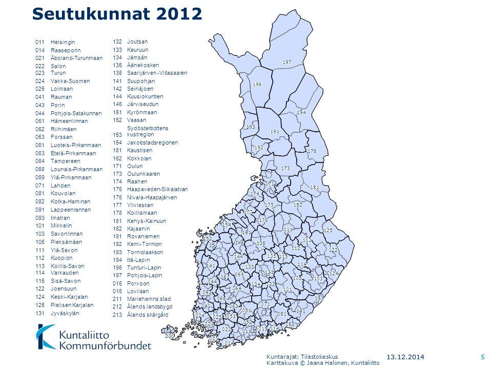 Seutukunnat 2012 7.4.2017 7.4.2017 5 011 Helsingin 014 Raaseporin 021