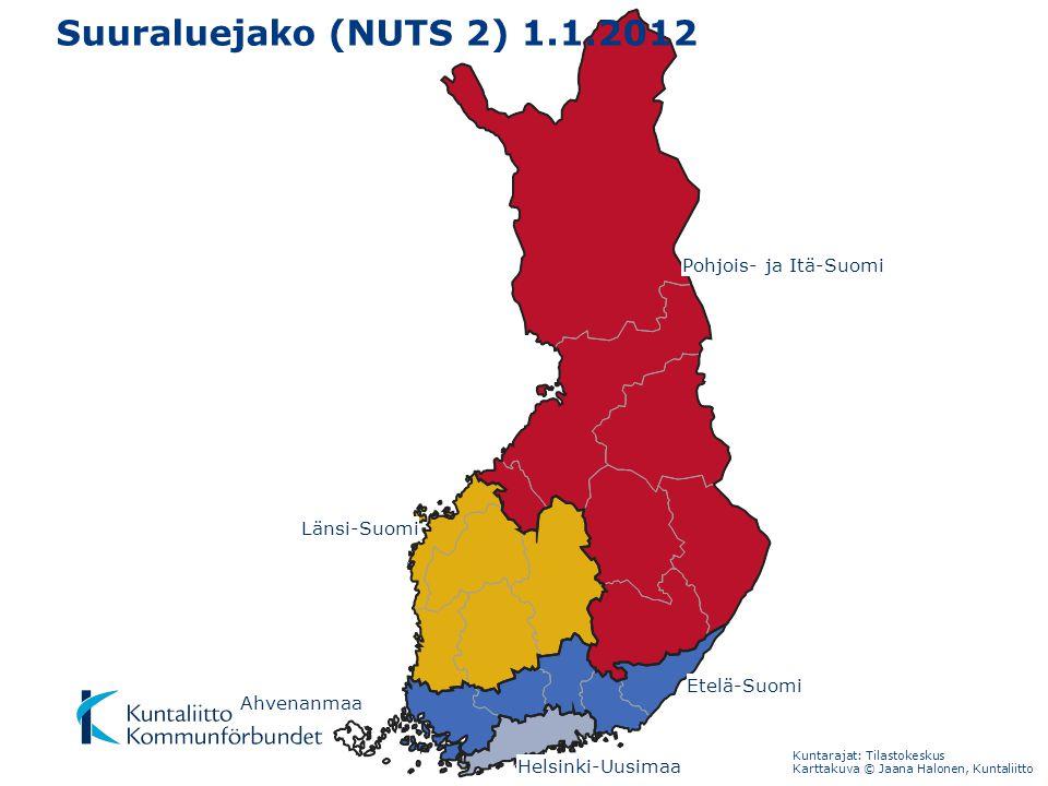 Suuraluejako (NUTS 2) 1.1.2012 Pohjois- ja Itä-Suomi Länsi-Suomi