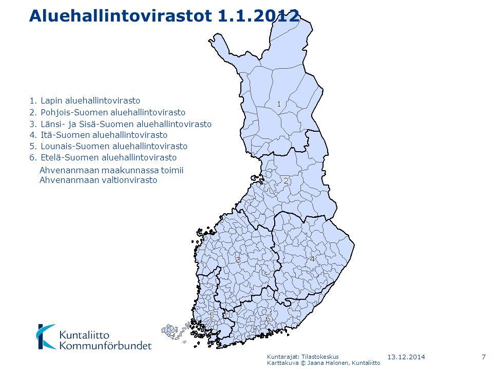 Aluehallintovirastot 1.1.2012