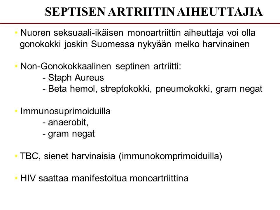 SEPTISEN ARTRIITIN AIHEUTTAJIA