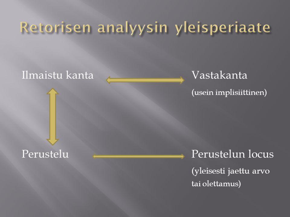 Retorisen analyysin yleisperiaate