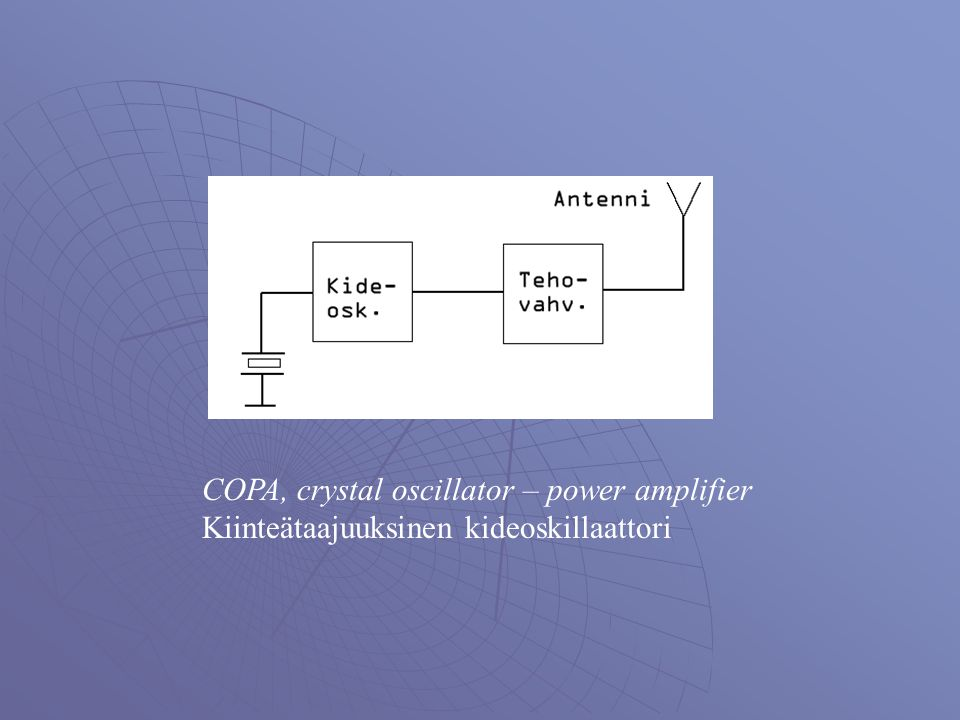 COPA, crystal oscillator – power amplifier