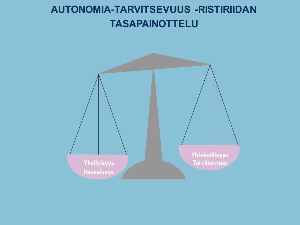 AUTONOMIA-TARVITSEVUUS -RISTIRIIDAN TASAPAINOTTELU