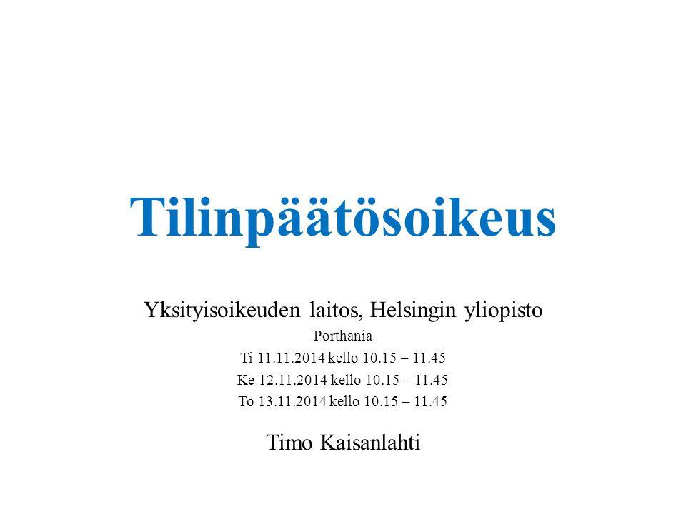 Yksityisoikeuden laitos, Helsingin yliopisto