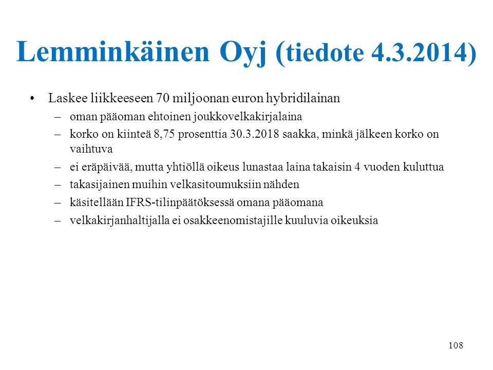 Lemminkäinen Oyj (tiedote 4.3.2014)