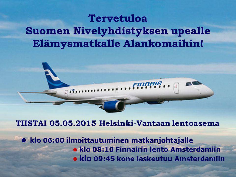Suomen Nivelyhdistyksen upealle Elämysmatkalle Alankomaihin!