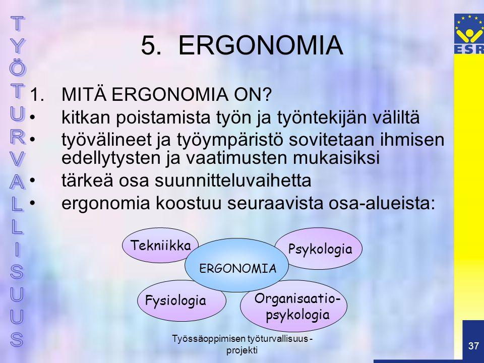 5. ERGONOMIA MITÄ ERGONOMIA ON