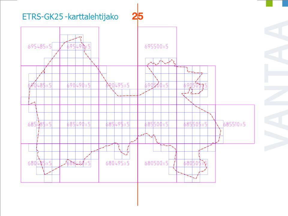 ETRS-GK25 -karttalehtijako