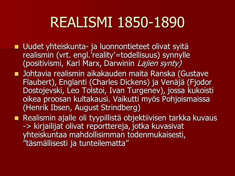 REALISMI 1850-1890