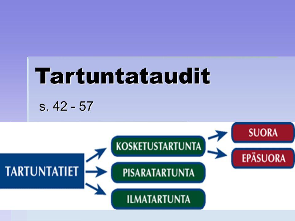 Tartuntataudit s. 42 - 57