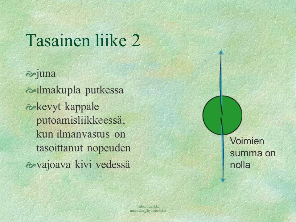 Mikko Rahikka mrahikka@hyl.edu.hel.fi