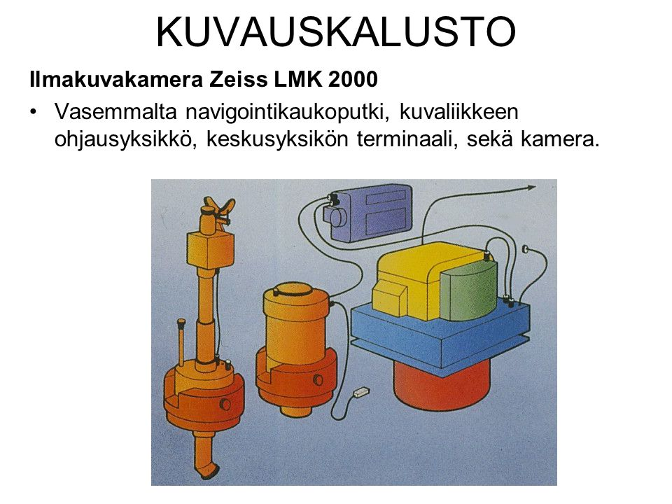 KUVAUSKALUSTO Ilmakuvakamera Zeiss LMK 2000