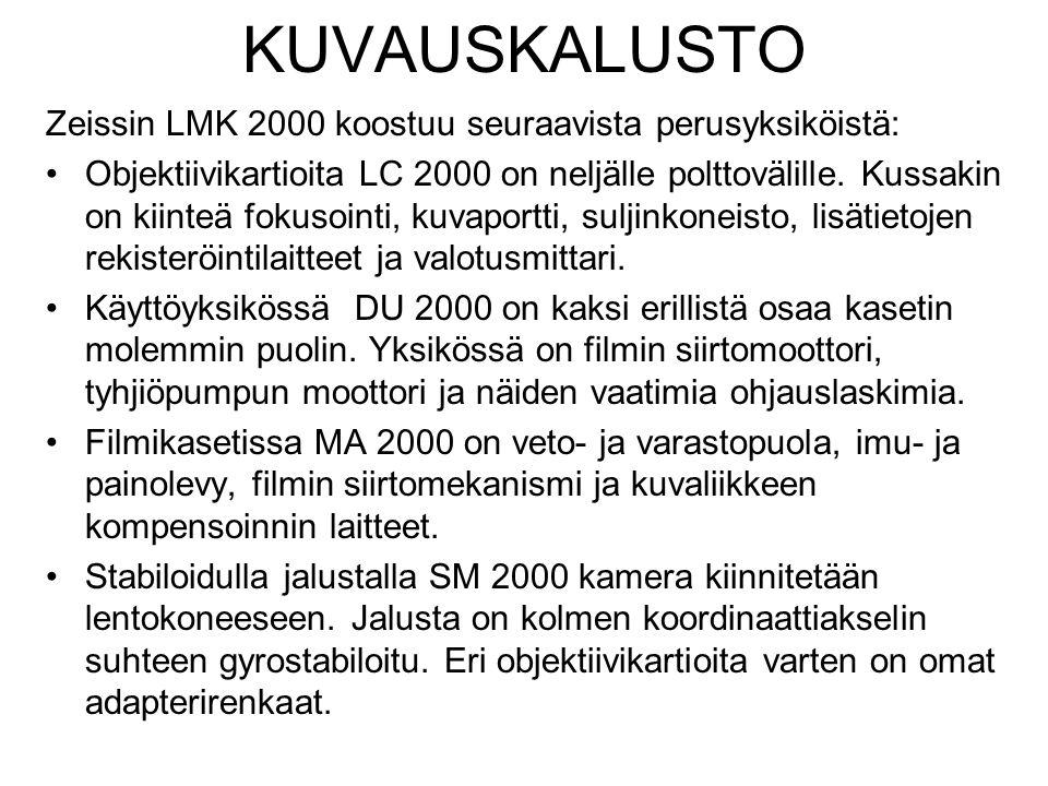 KUVAUSKALUSTO Zeissin LMK 2000 koostuu seuraavista perusyksiköistä: