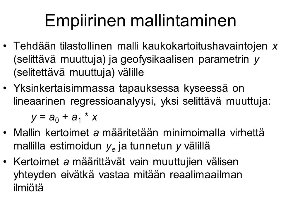 Empiirinen mallintaminen