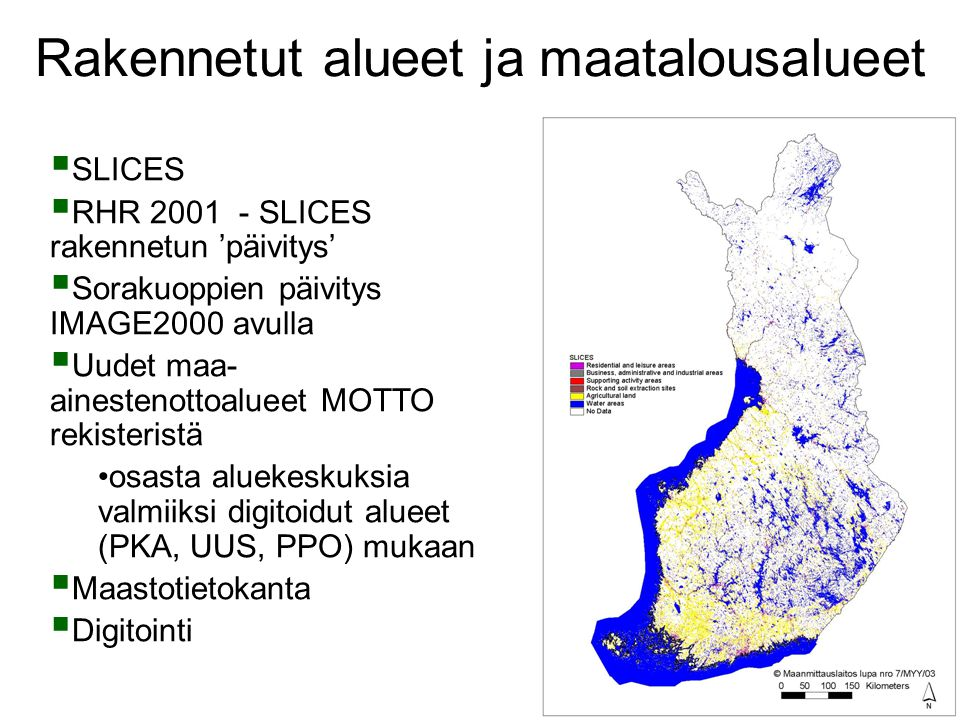 Rakennetut alueet ja maatalousalueet