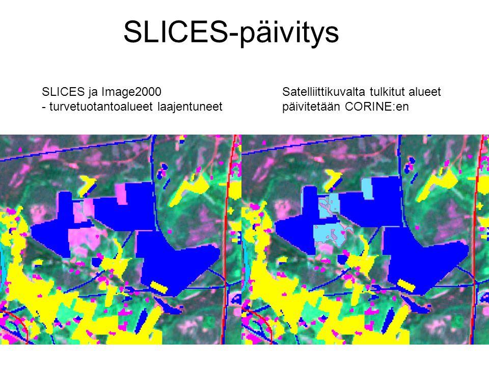 SLICES-päivitys SLICES ja Image2000 - turvetuotantoalueet laajentuneet