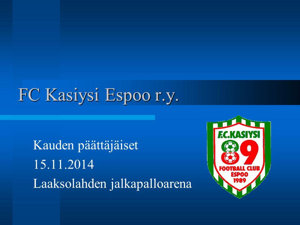 Kauden päättäjäiset 15.11.2014 Laaksolahden jalkapalloarena