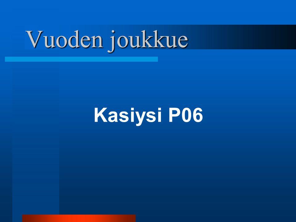 Vuoden joukkue Kasiysi P06 Helsinki Cup pronssi