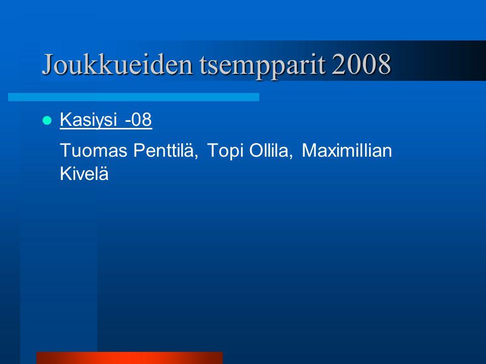 Joukkueiden tsempparit 2008