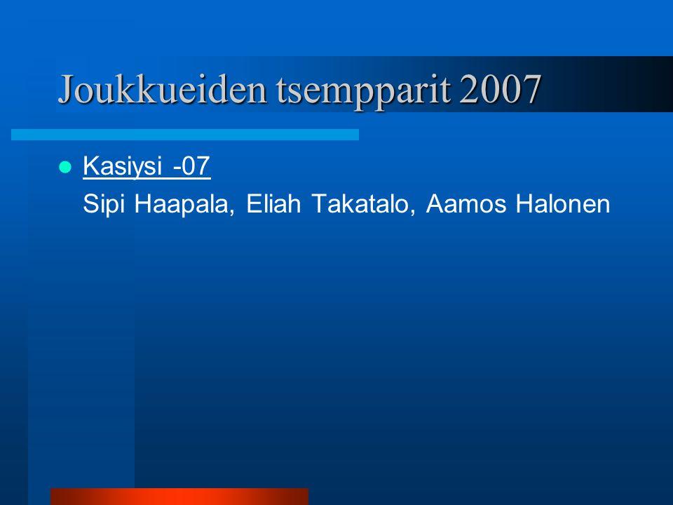 Joukkueiden tsempparit 2007