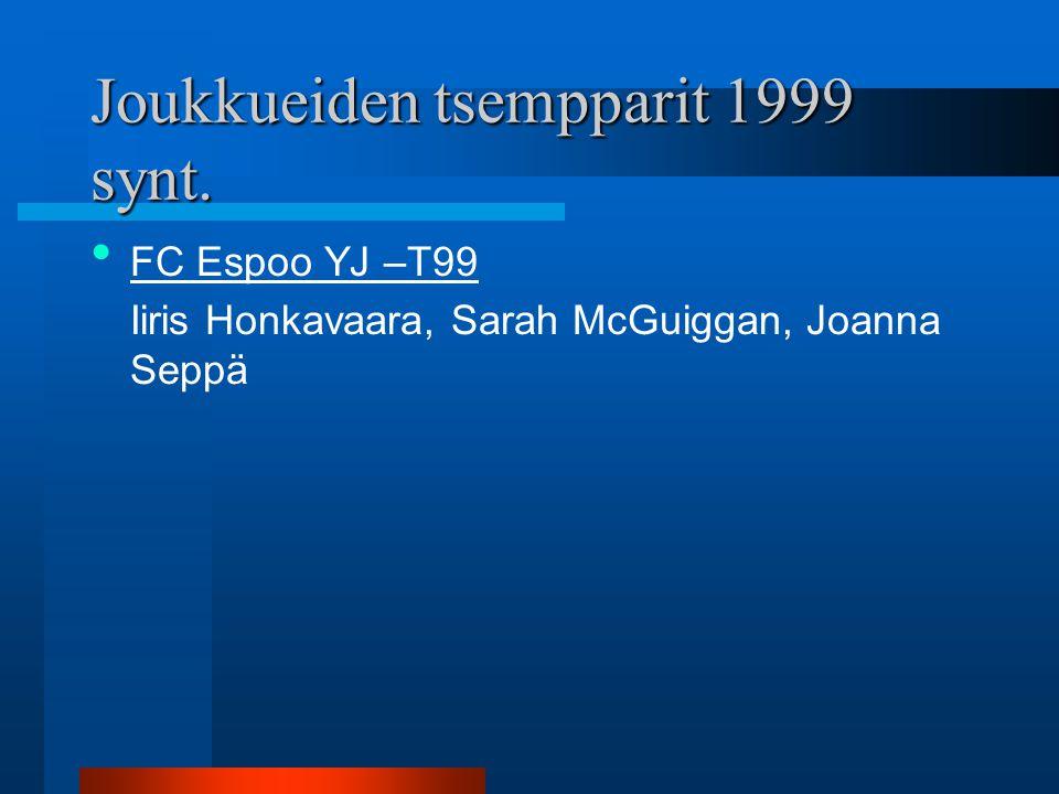 Joukkueiden tsempparit 1999 synt.