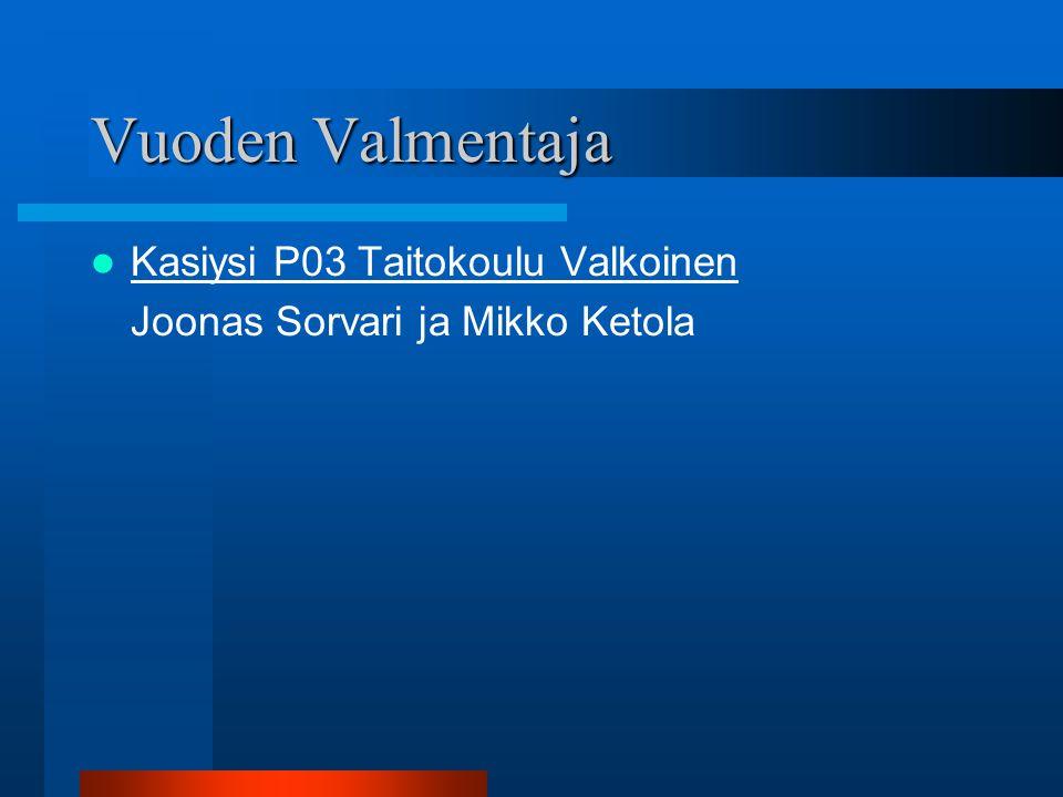 Vuoden Valmentaja Kasiysi P03 Taitokoulu Valkoinen
