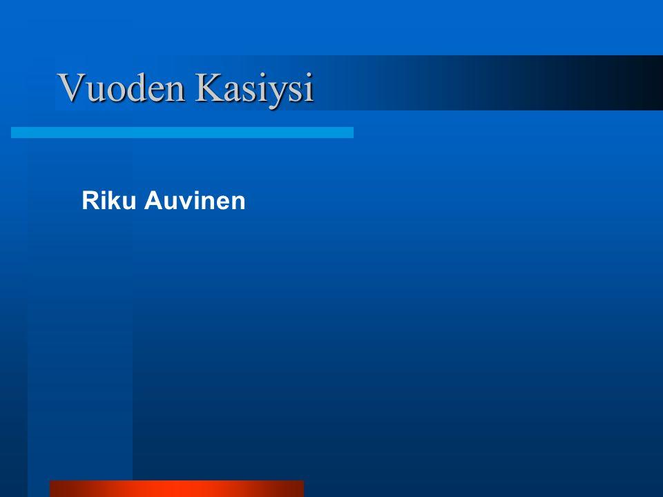 Vuoden Kasiysi Riku Auvinen