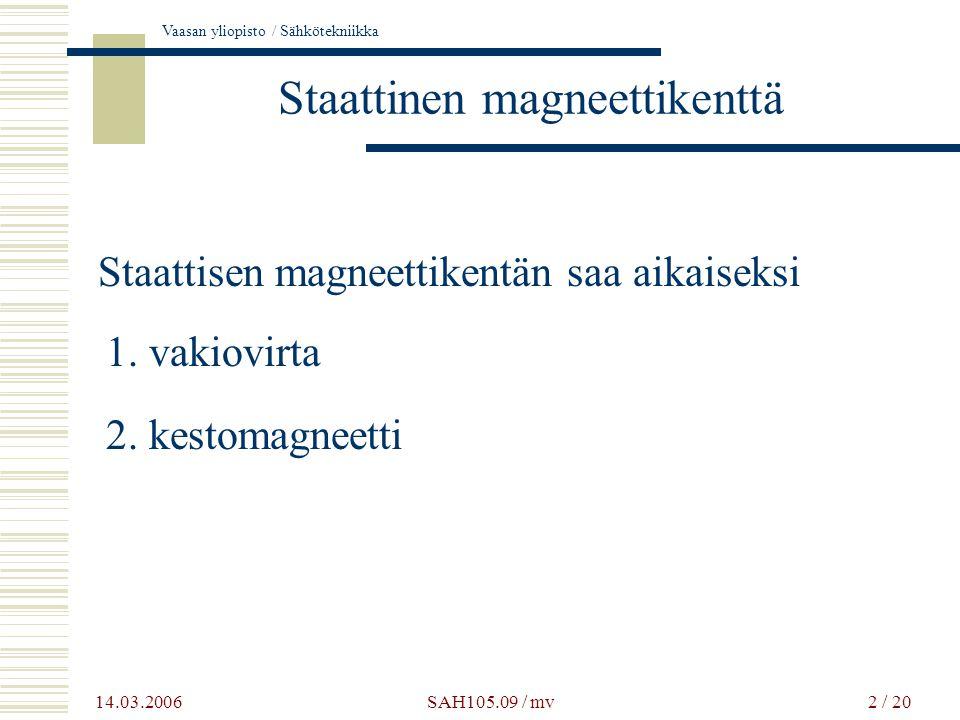 Staattinen magneettikenttä