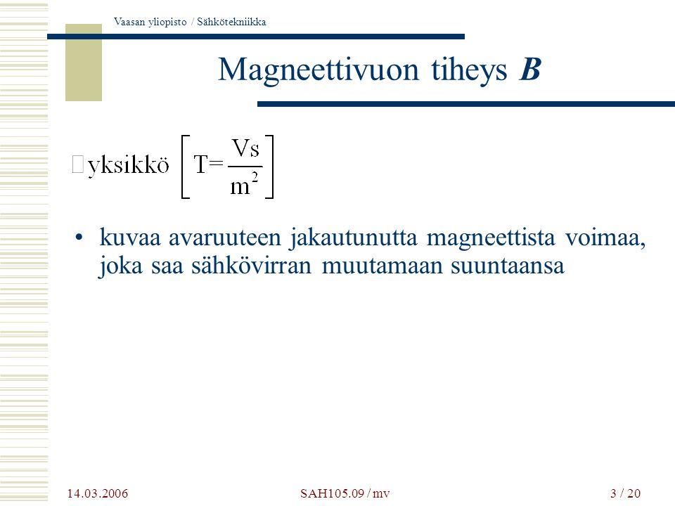 Magneettivuon tiheys B
