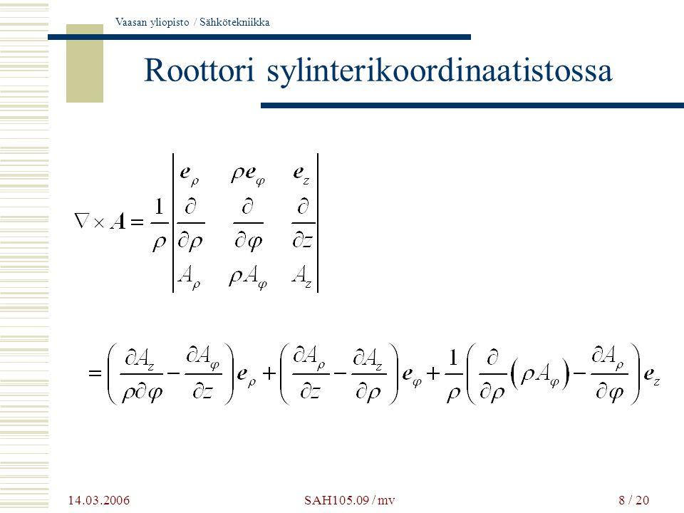 Roottori sylinterikoordinaatistossa