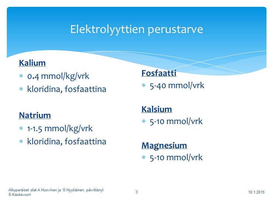 Elektrolyyttien perustarve