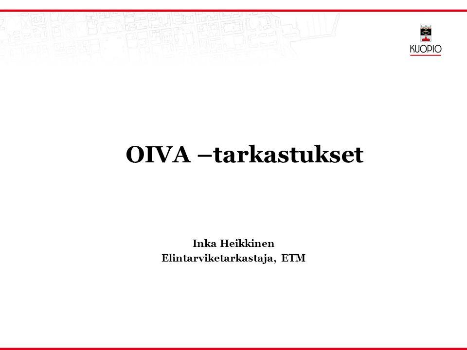 Inka Heikkinen Elintarviketarkastaja, ETM
