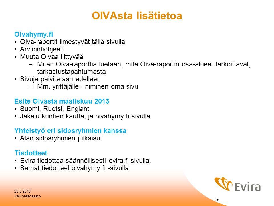 OIVAsta lisätietoa Oivahymy.fi Oiva-raportit ilmestyvät tällä sivulla