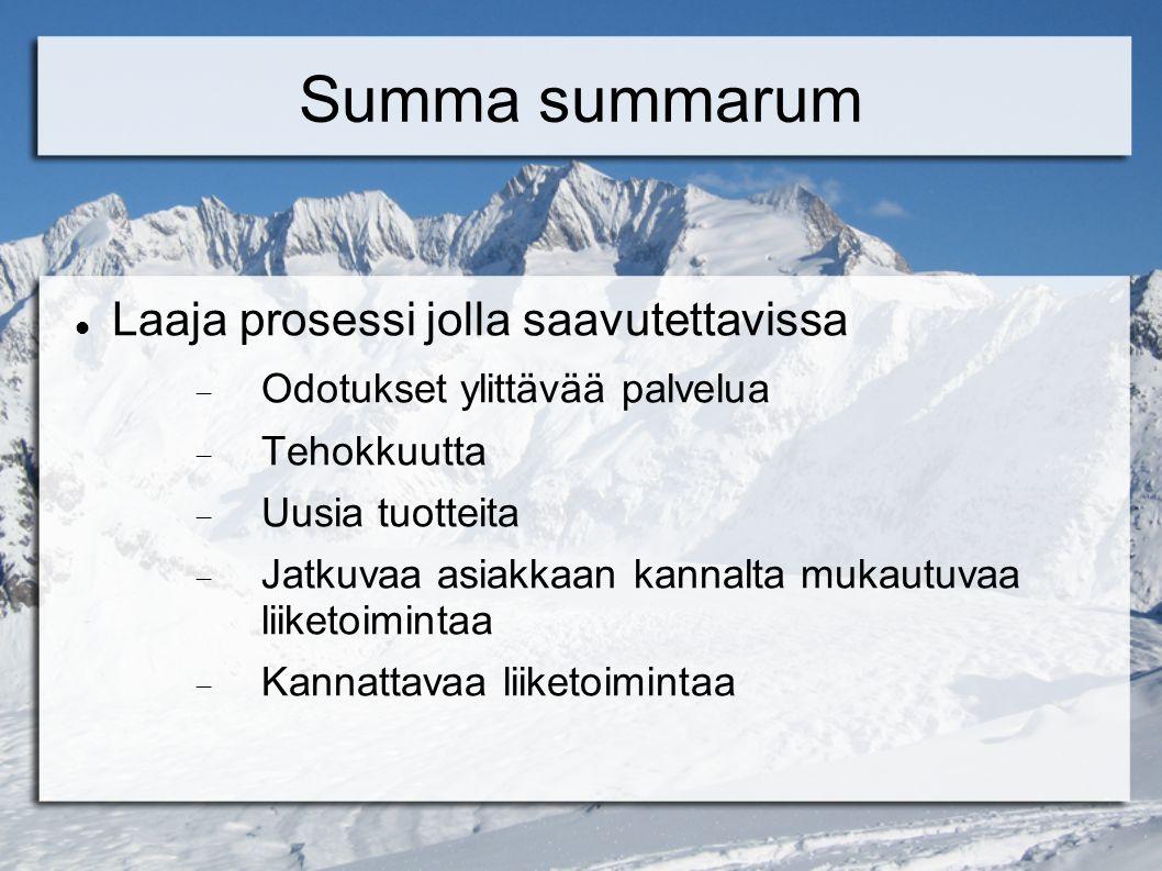 Summa summarum Laaja prosessi jolla saavutettavissa