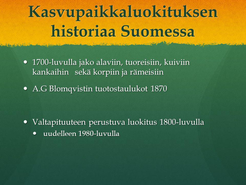 Kasvupaikkaluokituksen historiaa Suomessa