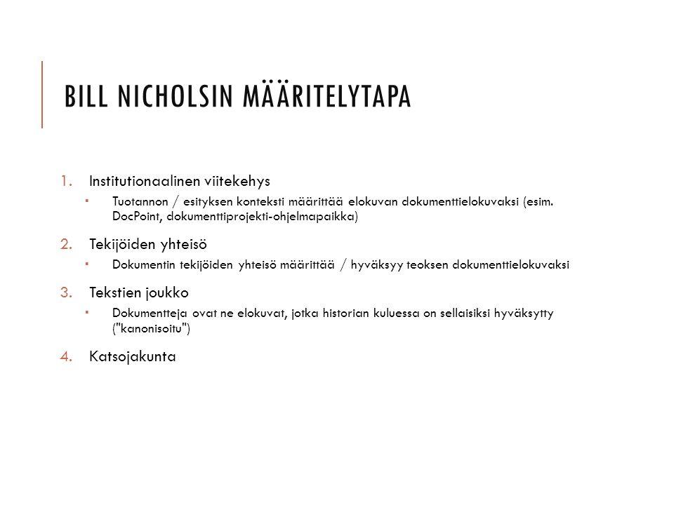 Bill Nicholsin määritelytapa
