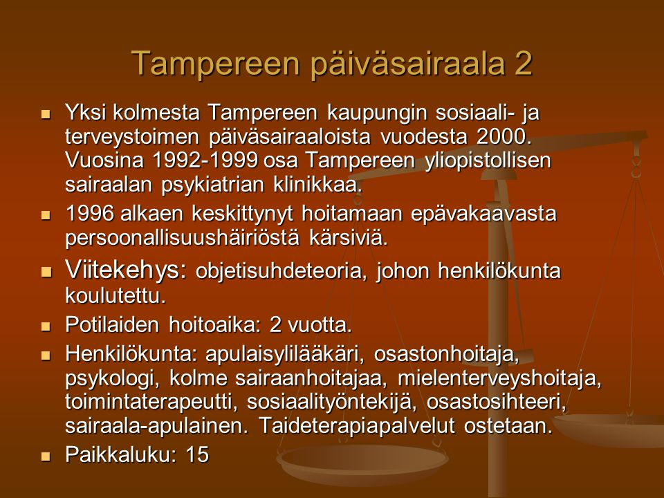 Tampereen päiväsairaala 2