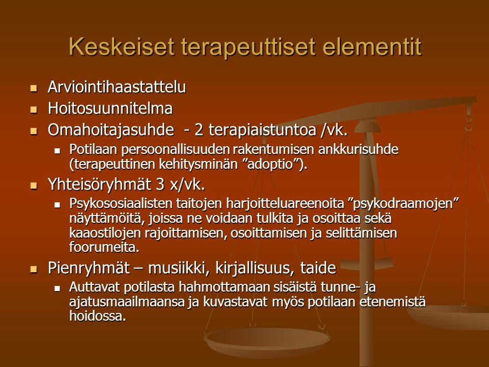 Keskeiset terapeuttiset elementit