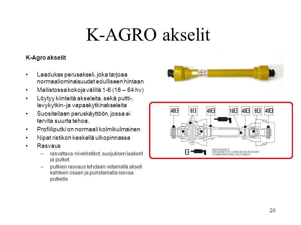 K-AGRO akselit K-Agro akselit