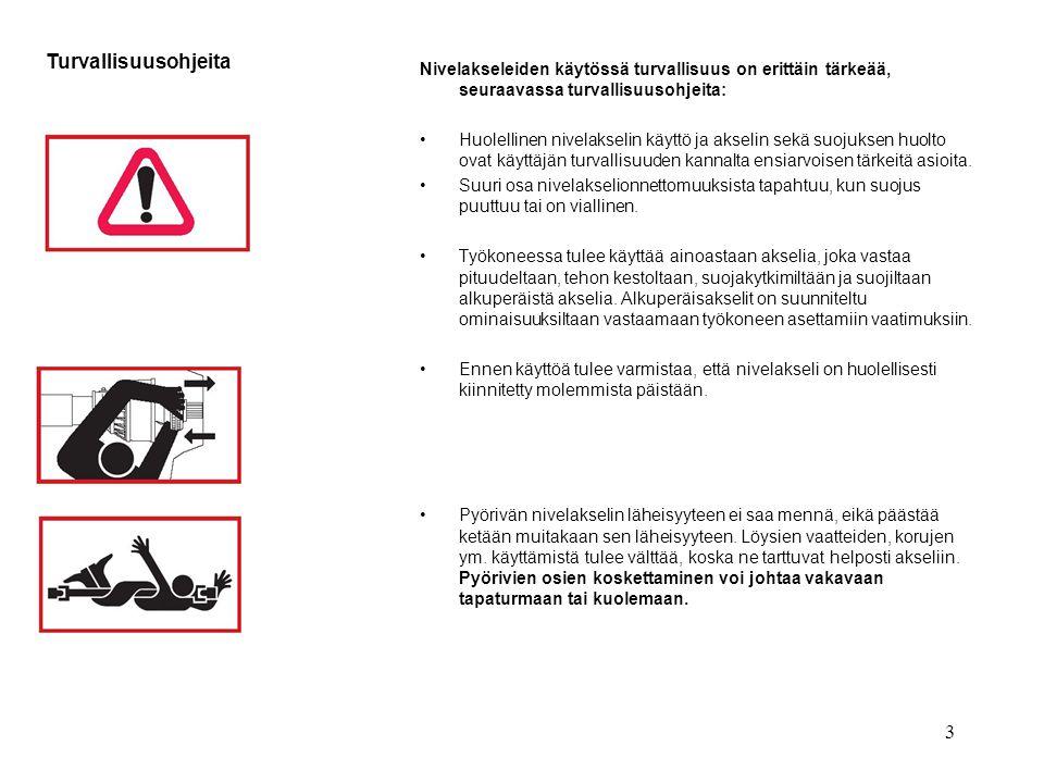 Turvallisuusohjeita Nivelakseleiden käytössä turvallisuus on erittäin tärkeää, seuraavassa turvallisuusohjeita: