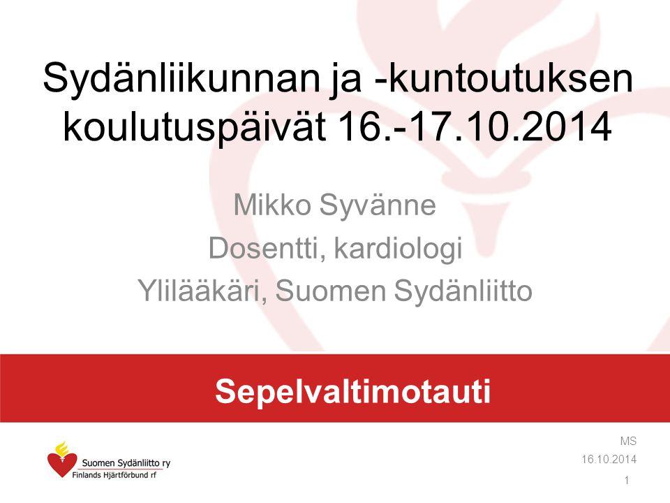 Sydänliikunnan ja -kuntoutuksen koulutuspäivät 16.-17.10.2014