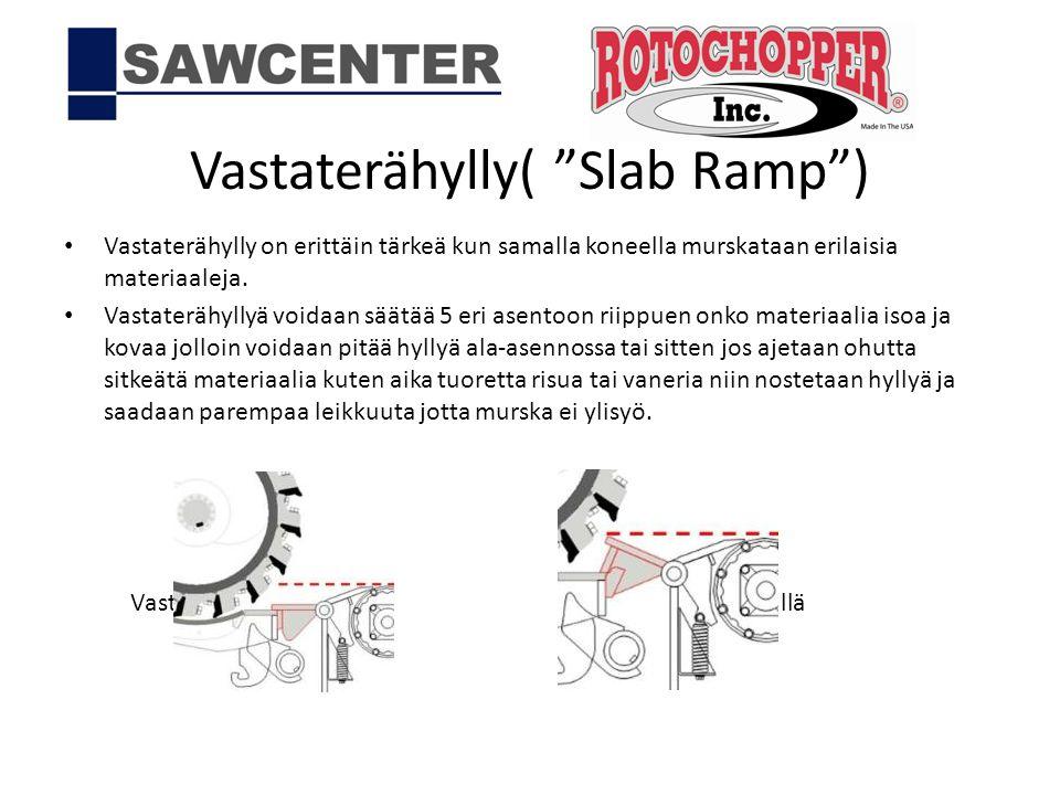 Vastaterähylly( Slab Ramp )