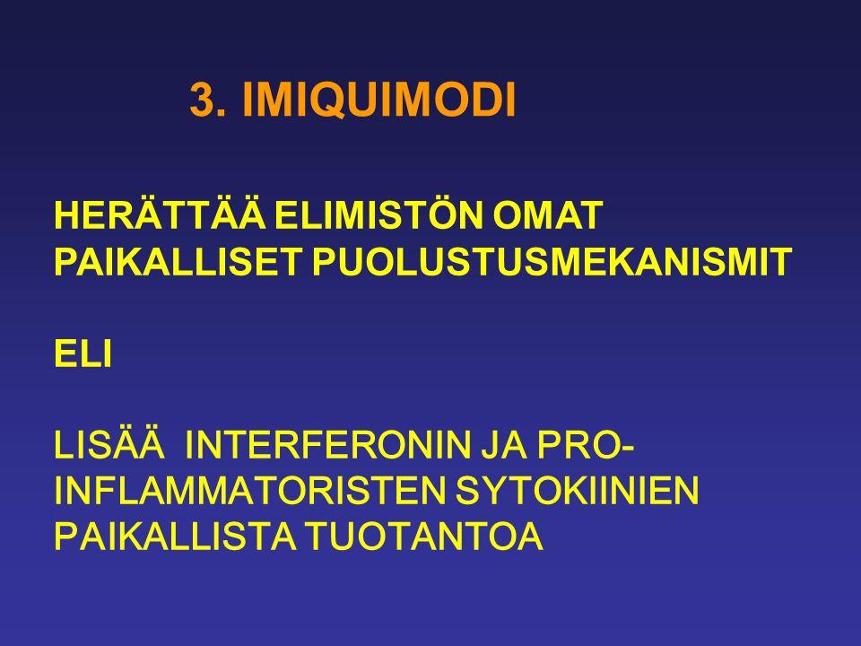 3. IMIQUIMODI HERÄTTÄÄ ELIMISTÖN OMAT PAIKALLISET PUOLUSTUSMEKANISMIT