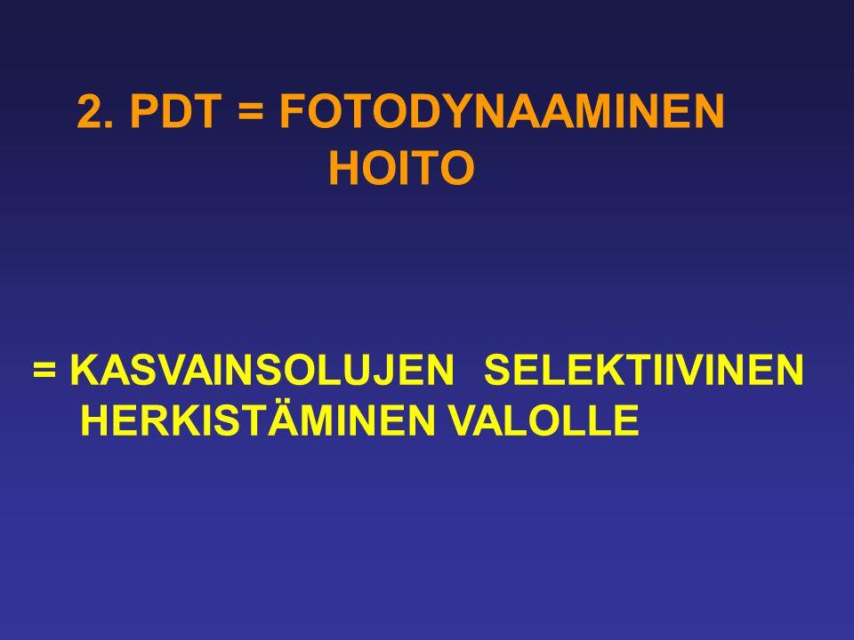 2. PDT = FOTODYNAAMINEN HOITO