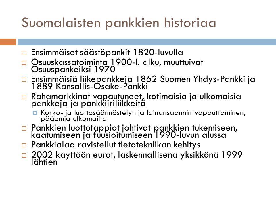 Suomalaisten pankkien historiaa