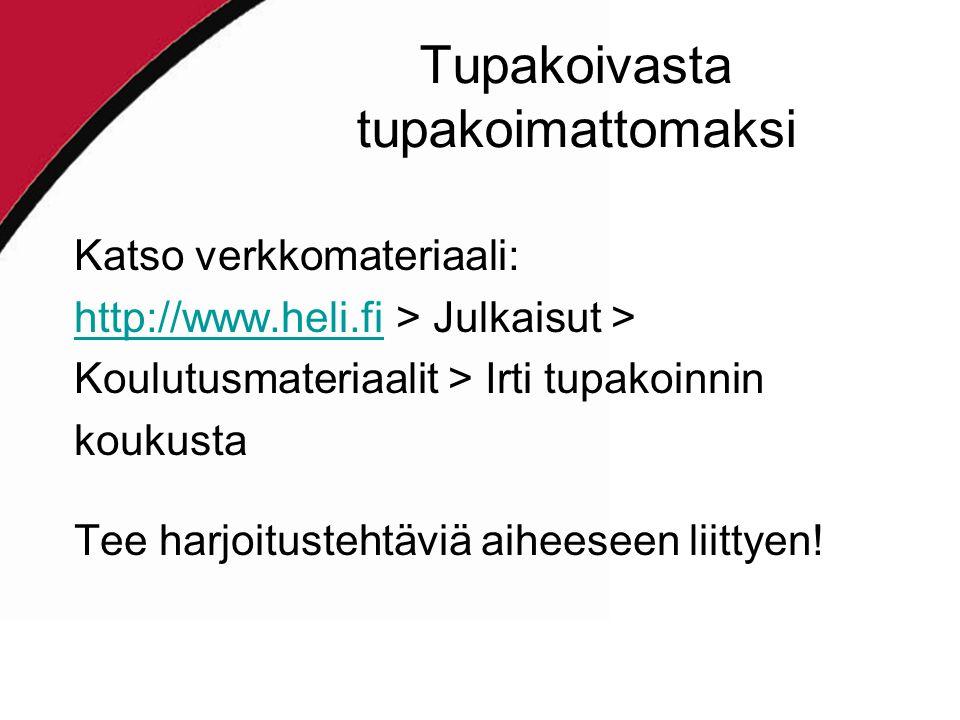 tupakan vieroitusoireet Lahti