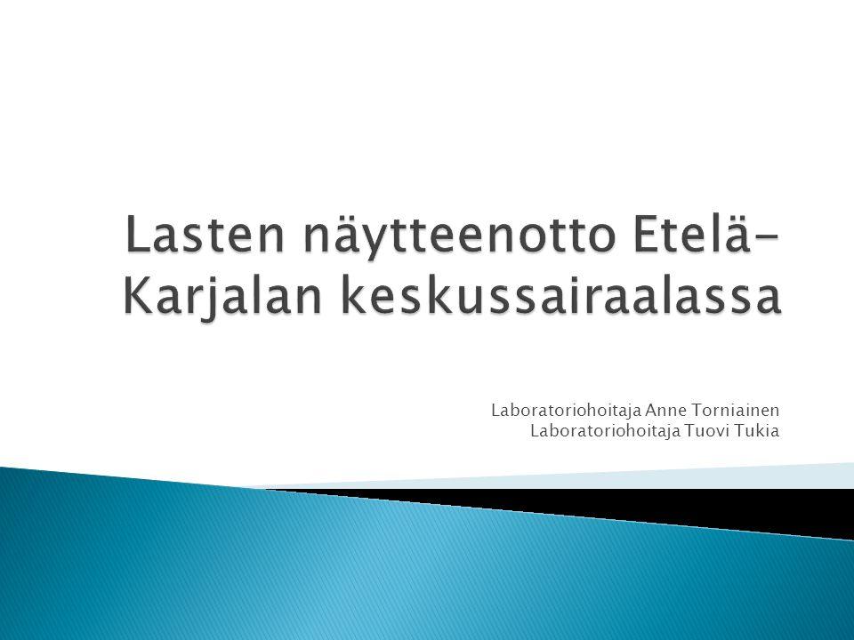 Lasten näytteenotto Etelä-Karjalan keskussairaalassa