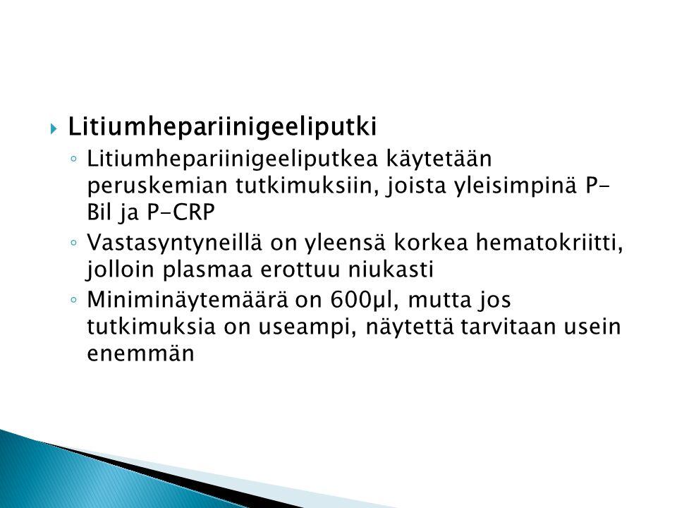 Litiumhepariinigeeliputki